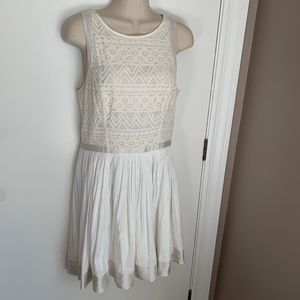 A/X Armani Exchange cotton lace fit and flare